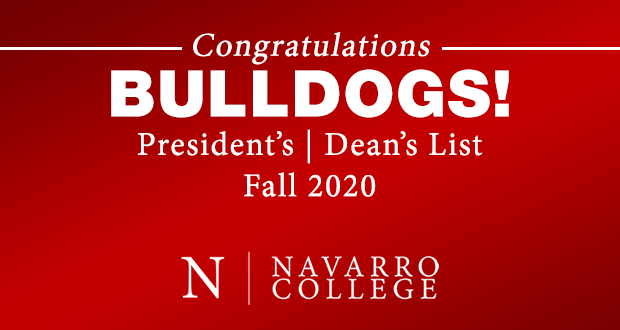 Fall 2020 President's and Dean's List