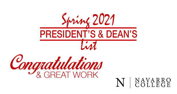 Spring 2021 President's & Dean's Lists