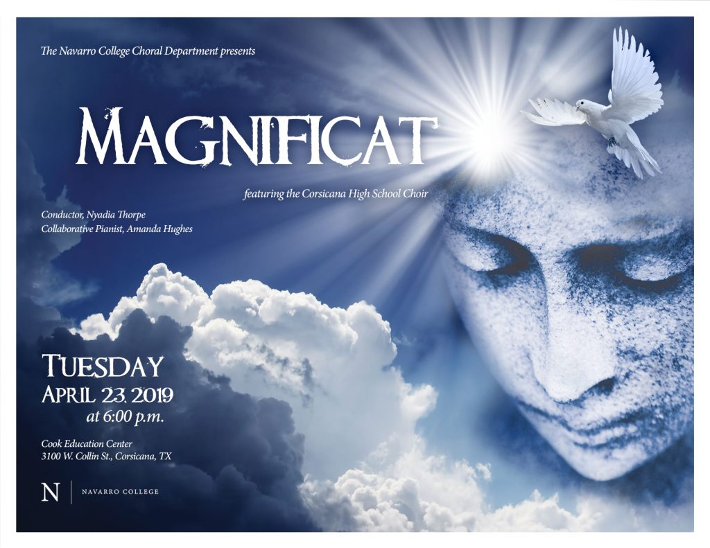 Choral Department Presents: Magnificat, featuring the Corsicana High School Choir on April 23