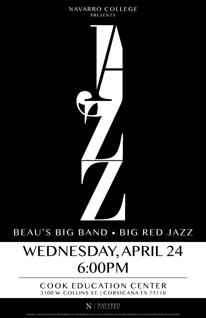 NC Presents Beau's Big Band, Big Red Jazz on April 24