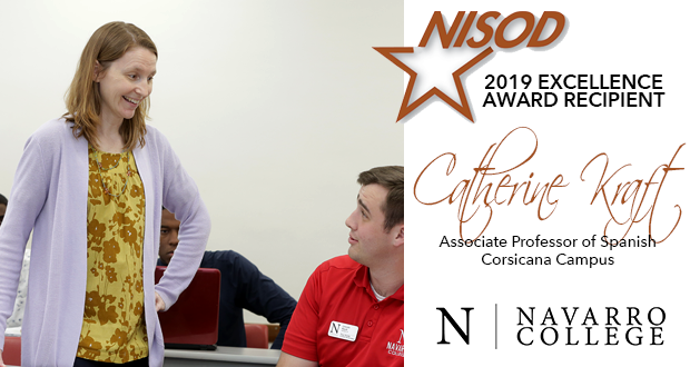 Catherine Kraft, NC Professor Recognized as 2019 NISOD Excellence Award Recipient