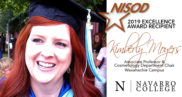 Kimberly Moyers, NC Professor Recognized as 2019 NISOD Excellence Award Recipient