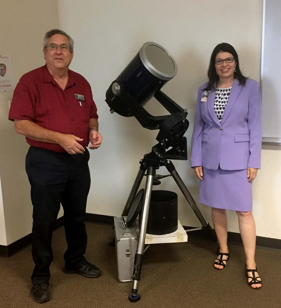 Telescope donated to Navarro College Waxahachie Campus