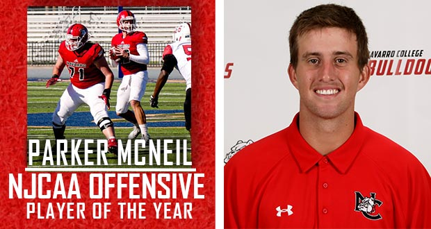 Parker McNeil named NJCAA Offensive Player of the Year