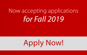 Now accepting applications for Fall 2019