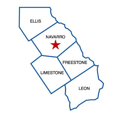 Navarro College Service Area